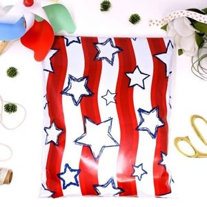 Other - 30 Red White Blue Stars America Poly Mailers 10x13
